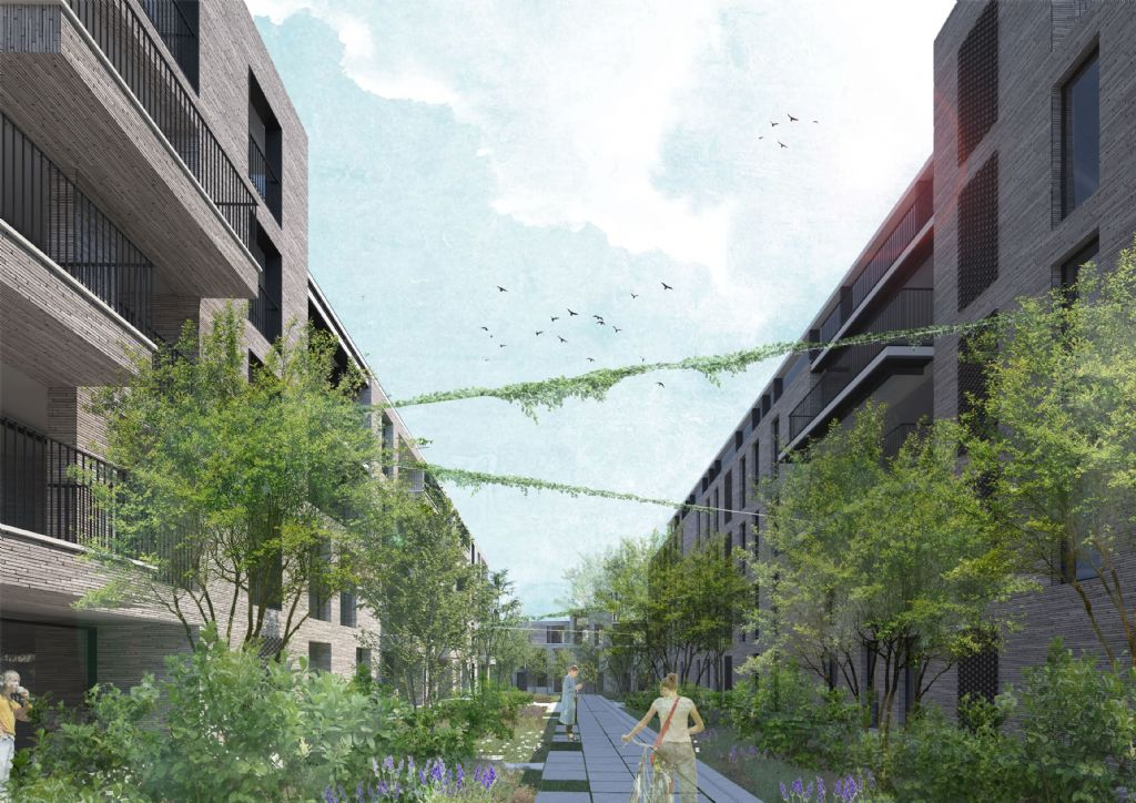 Minckelersparking maakt plaats voor een van de duurzaamste woonwijken van Leuven (Jaspers-Eyers Architects)