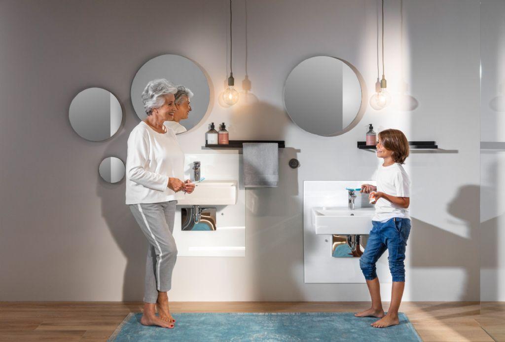 De nieuwste Prevista-voorwandelementen garanderen de ultieme vrijheid van badkamerinrichting.