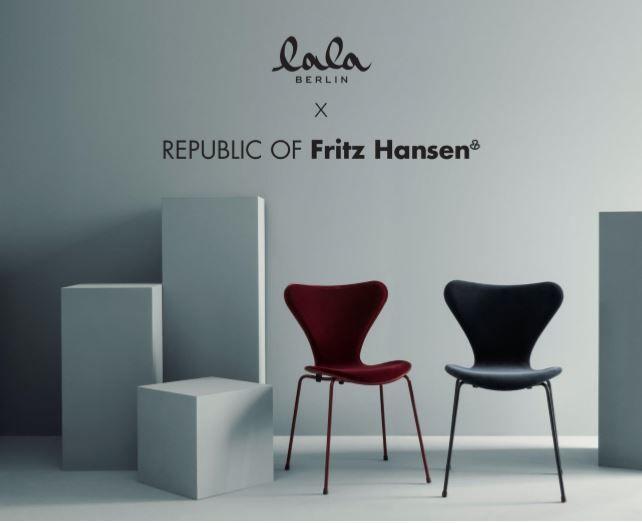 lala Berlin x Fritz Hansen: waar mode en meubelen samenkomen