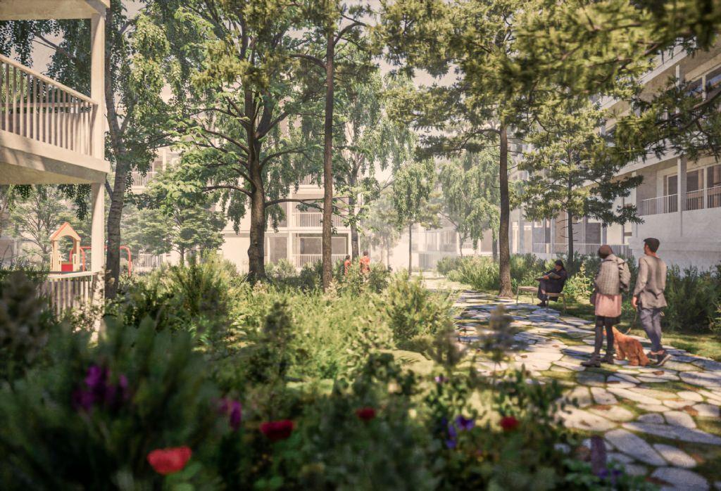 Oude AstraZeneca en Therabel-site maakt plaats voor groene woonomgeving van BOGDAN & VAN BROECK, POLO Architects en OMGEVING