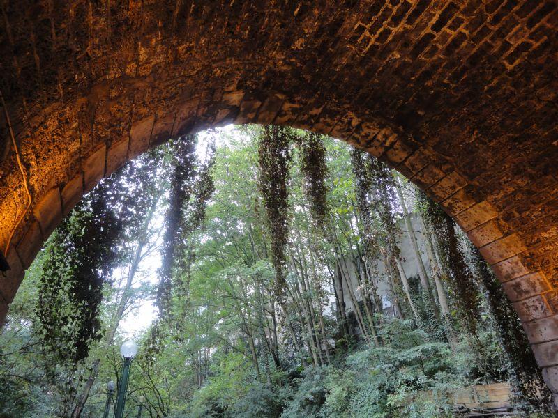 """""""Het weer is niet om naar huis te schrijven, dus denk ik dat daarom bijna geen kat wandelt of loopt langs dit puik parcours door tunnels, tussen bomen, over bruggetjes, onder viaducten."""""""