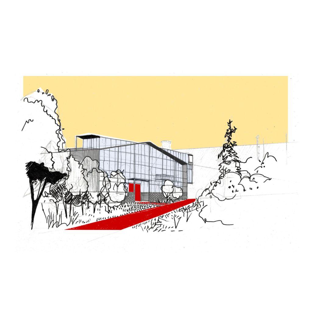 Productiehal in regio Antwerpen: tijdelijke kantoren kunnen een toekomst als museum hebben