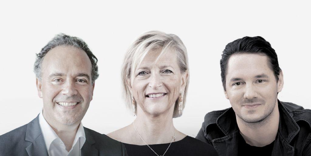Michiel Riedijk, Christine Conix en Julien De Smedt nemen het woord.