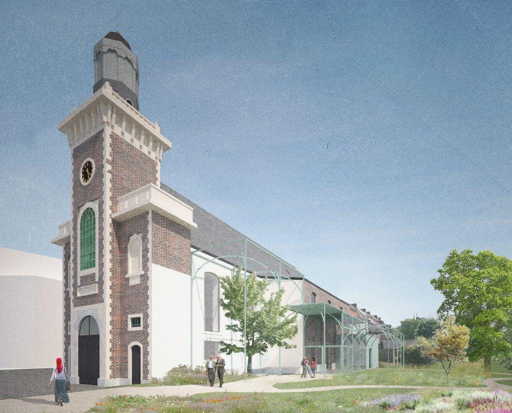 Sint-Antonius Abtkerk in Meulestede krijgt nieuw leven als culturele ontmoetingsplek (OFFICEU – Atelier Arne Deruyter)