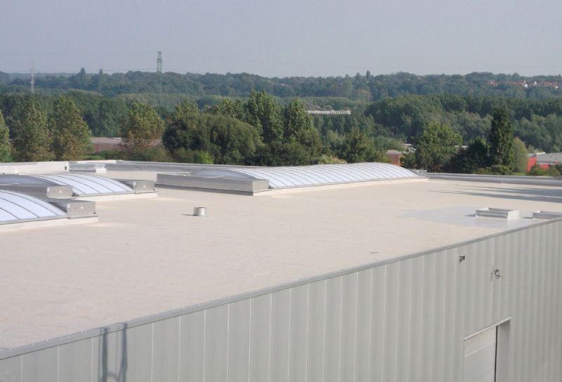 Een plat dak uitgerust met Vaeplandakbaan.