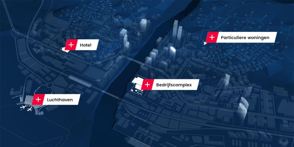 De 360° City App: de 3D-wereld van dormakaba