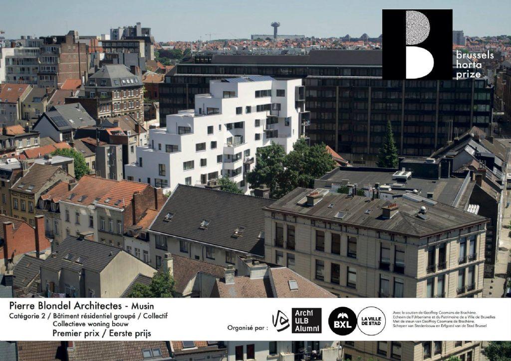 """Lauréat dans la catégorie """"Résidentiel groupé / collectif"""" : Pierre Blondel Architectes et son projet """"Musin"""""""