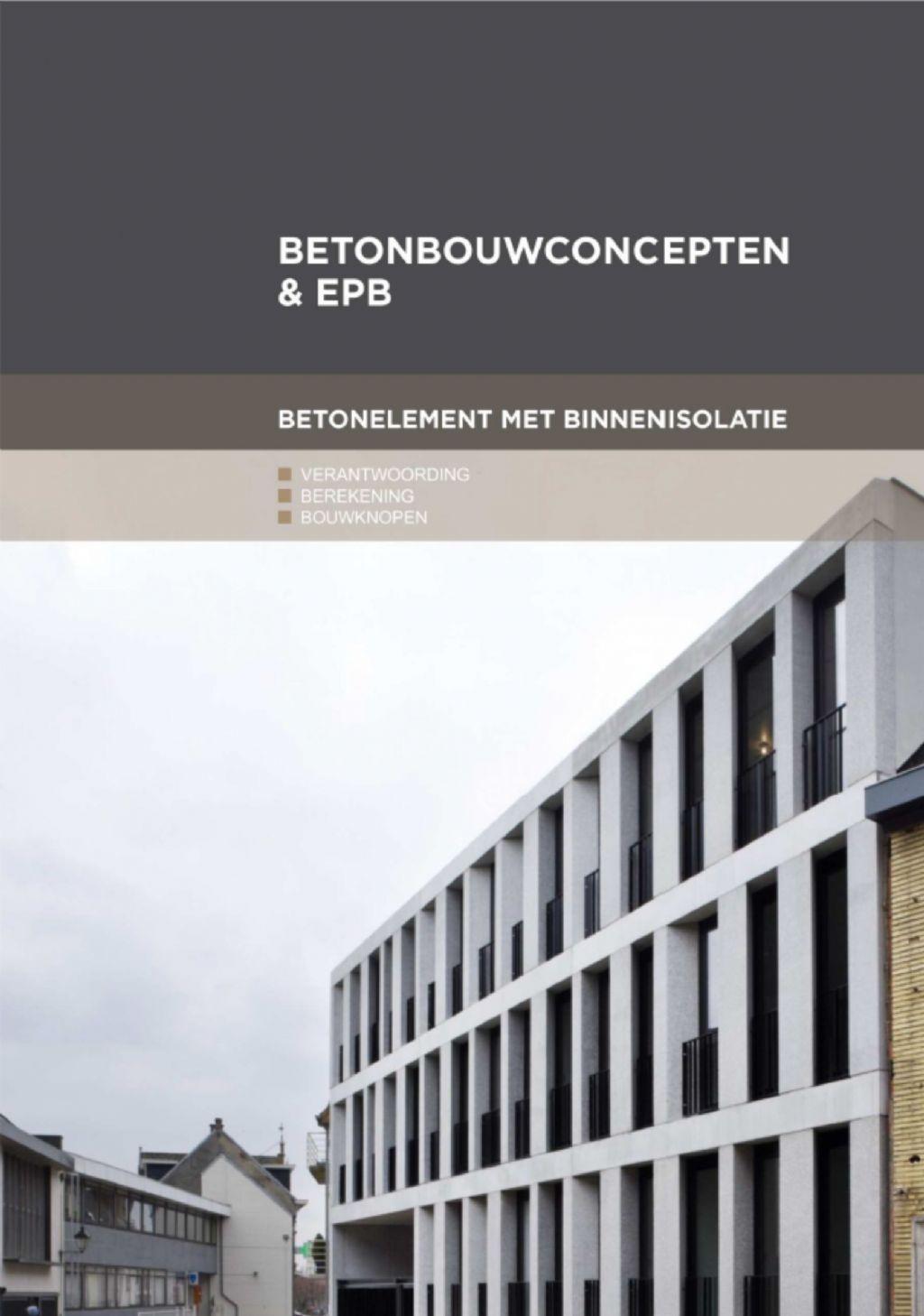 Bouwknopen: beton met binnenisolatie