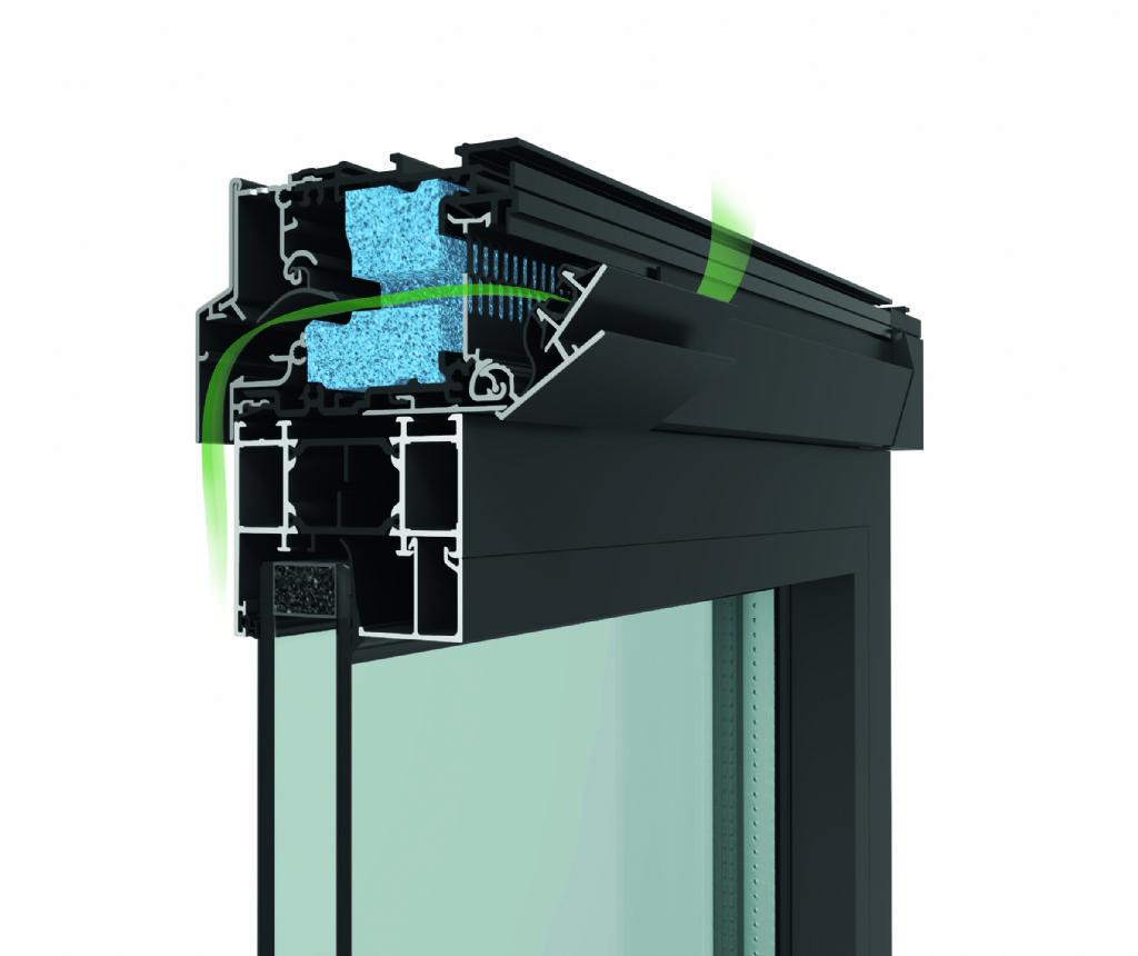 Un châssis durable avec aérateur intégré pour une meilleure étanchéité à l'eau et au vent