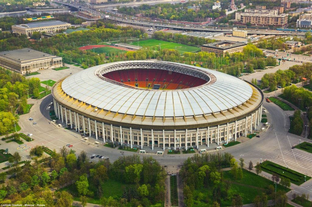Luzhniki Stadium in Moskou