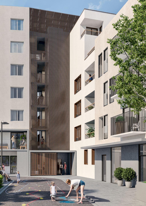 Abscis Architecten, Architenko en Studio Ensemble gaan voor houtbouw bij sociaal huisvestingsproject in Brusselse Marollen