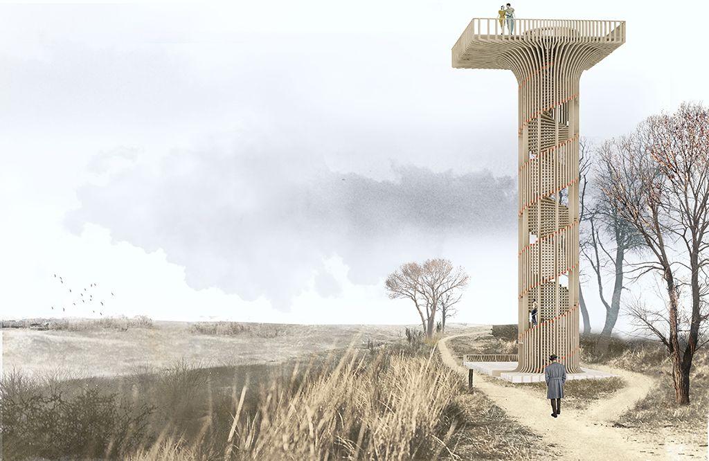 NEXT Architects ontwerpt nieuwe uitkijktoren op de Hoge Blekker