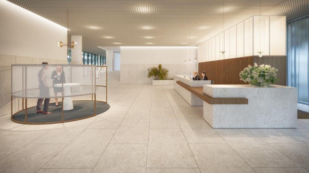 De hoogwaardige afwerking zet het vooruitstrevende karakter van dit bijzondere gebouw extra in de verf.