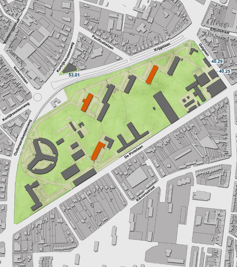 Siteplan Campus Sterre