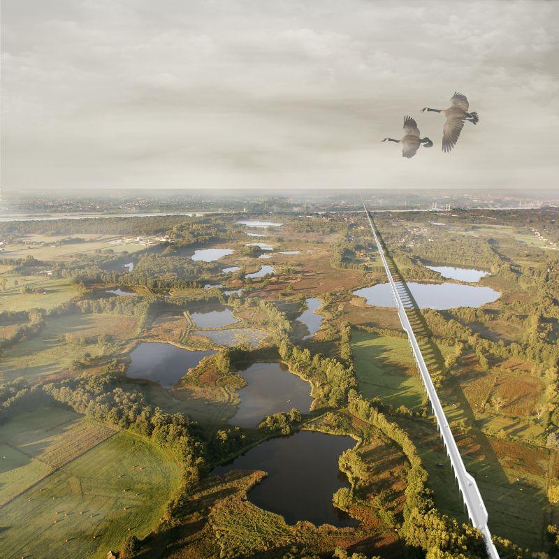 Fietsen of wandelen we ooit doorheen natuurgebied De Maten dankzij C.T. Architects?