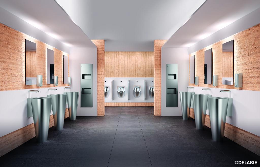 Roestvrij staal verhoogt de hygiëne in de sanitaire ruimte