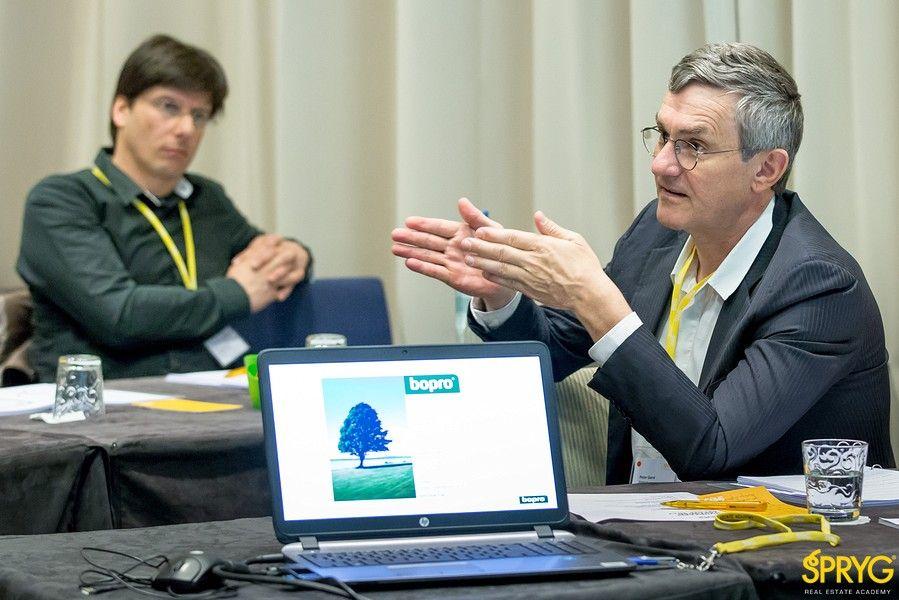 Peter Garré van BOPRO modereerde de studiedag.