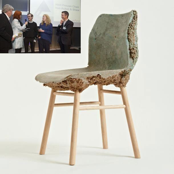 De ARC13 Stoelontwerp ging naar Well Proven Chair van Van Aubel & Shaw.