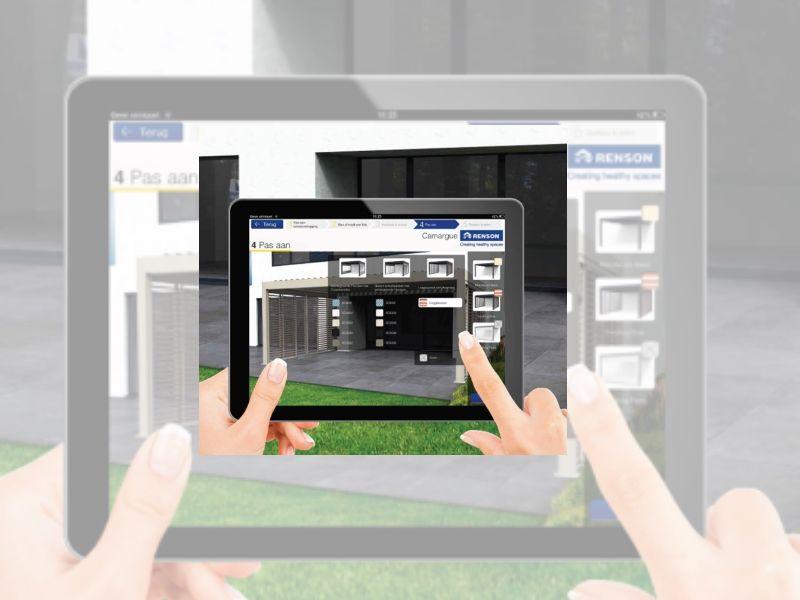 Stel zelf je eigen terrasoverkapping samen  met de gratis My Outdoor-app van Renson