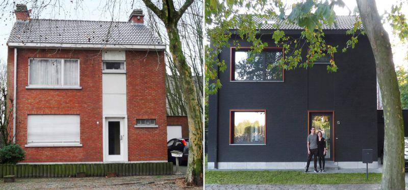 Voor en na de verbouwing.