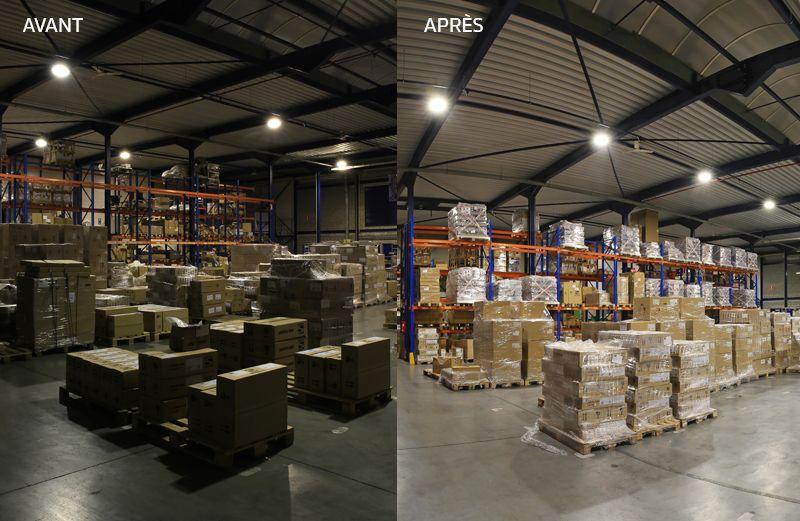 Schréder remplace l'éclairage de son centre de service belge