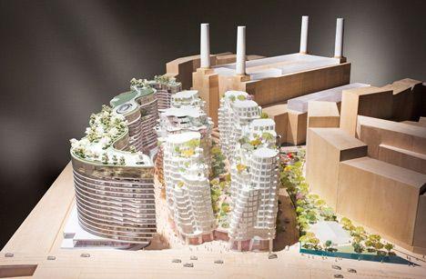 De nieuwe wijk ligt vlakbij de oude energiecentrale.