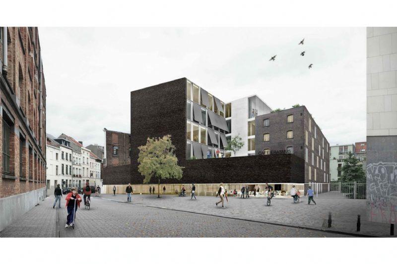 De Erasmushogeschool in Brussel, door B-architecten.