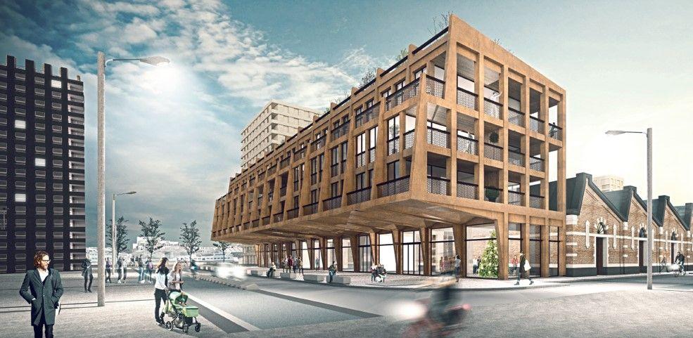 M2 Architecten ontwerpt 'zwevende' appartementen voor Montevideo-project in Antwerpen