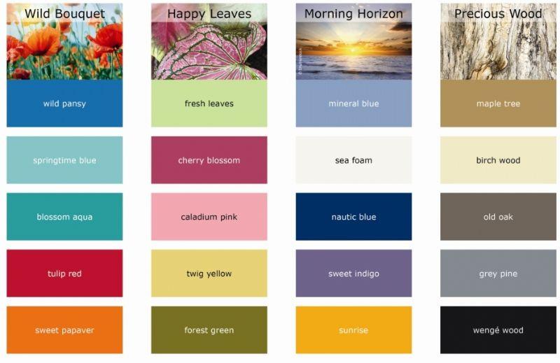 De twintig nieuwe kleuren van het gamma 'Botanic Textures' bieden een waaier van nieuwe mogelijkheden om je plantenbakken een persoonlijke twist te geven.