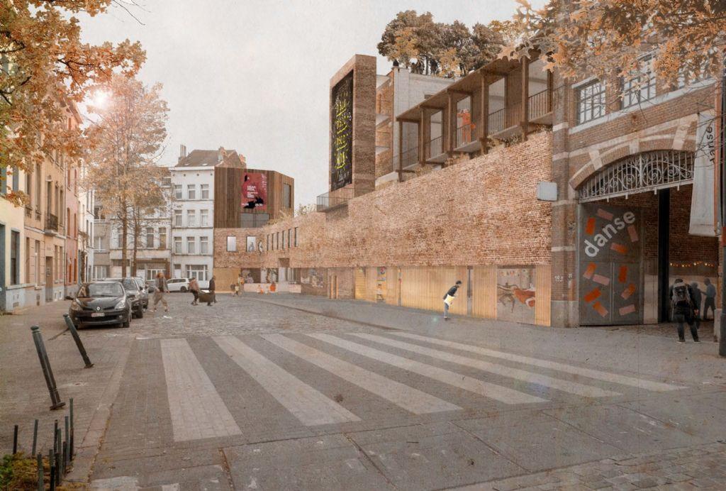 Het nieuwe gebouw aan de Manchesterstraat.