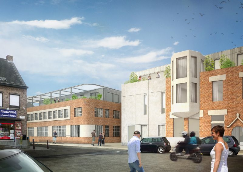 De nieuwe bestemming voor de breigoedfabriek Henri Verhulst aan de Hogeweg.