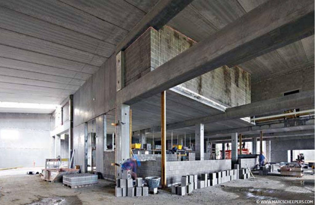 Skipiste Aspen: 'Betonstructuur biedt extra ruimte'