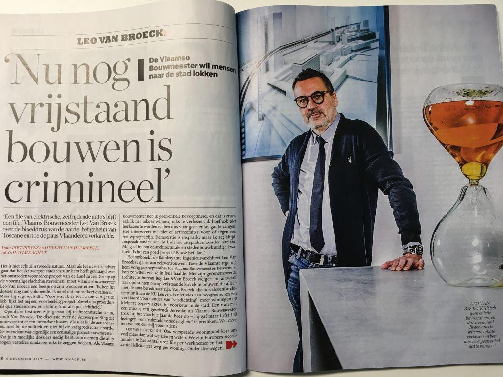 """Leo Van Broeck in Knack: """"Nu nog vrijstaand bouwen is crimineel"""""""