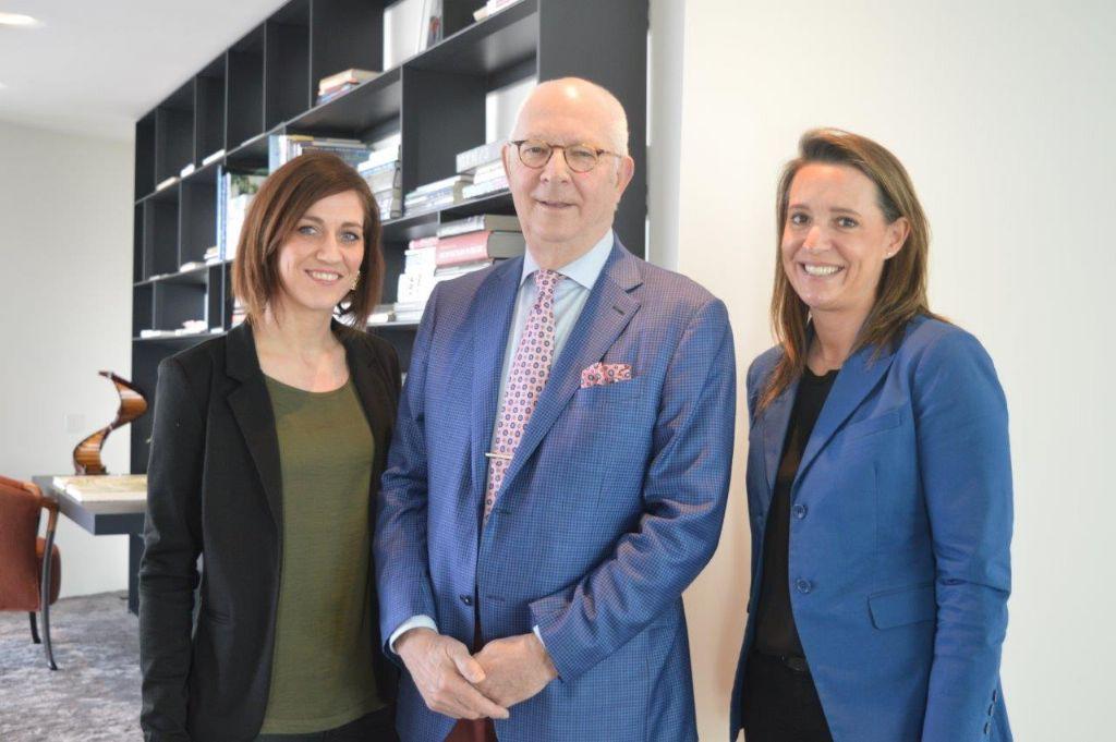 Vlnr. Cathérine Dreesen (directeur internationalisatie en innovatie, Voka – KvK Limburg), Ewald Houben (gedelegeerd bestuurder, Houben nv), Veronique Houben (CEO, Airdeck Building Concepts).