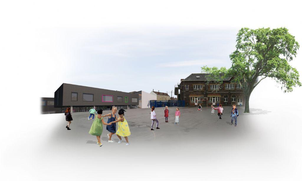Raté de peu : extension de l'école Saint-Joseph à Jumet (VORTEX)