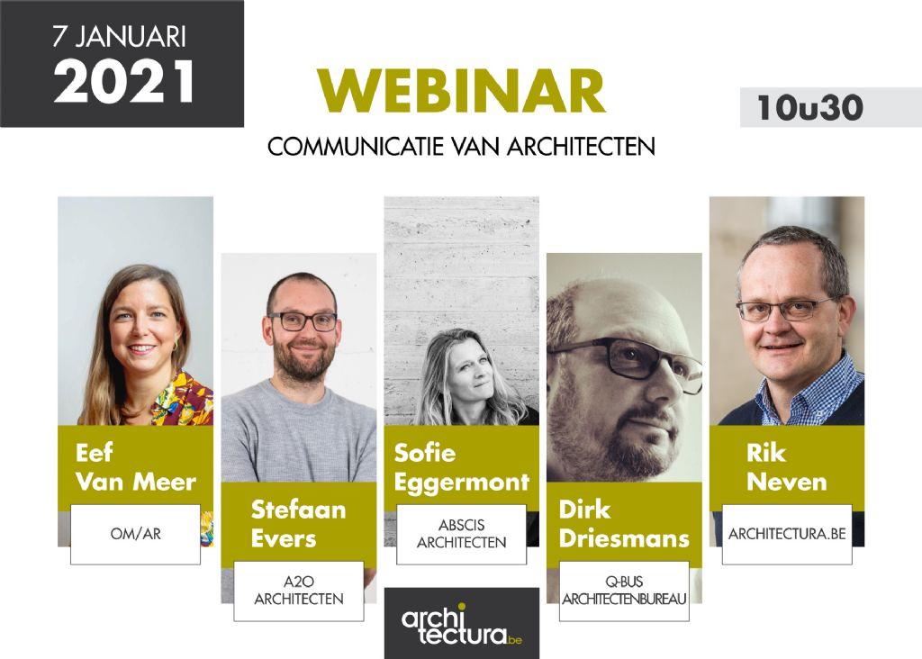 Twee boeiende seminaries rond communicatie van en naar architecten