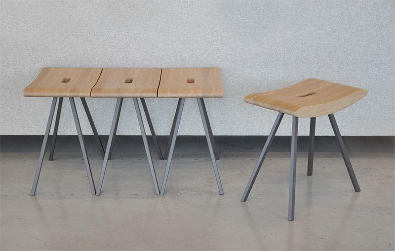 """""""STOOL"""" is een ontwerp van de Belgische architecte/ontwerpster Caroline Voet."""