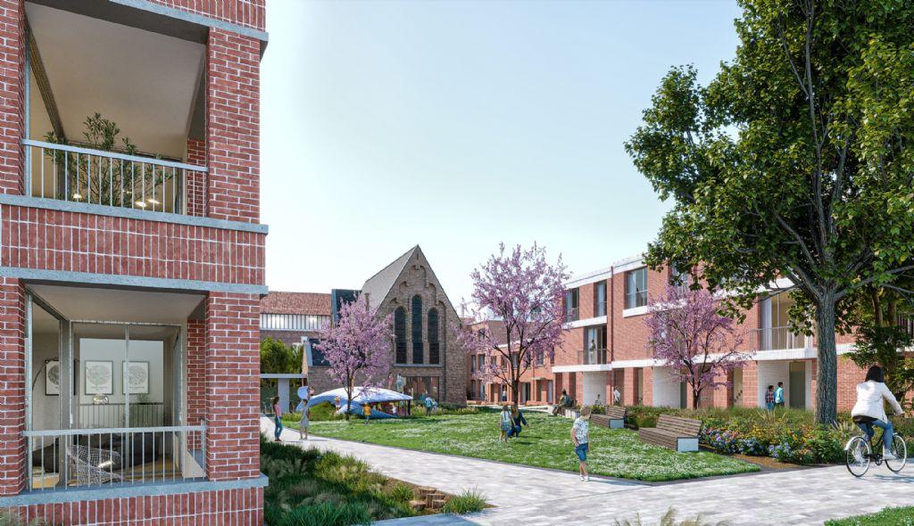 B-architecten, aNNo architecten en OKRA transformeren ISA-site in Temse tot levendige woonbuurt