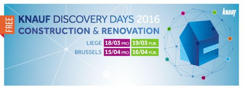 Knauf Discovery Days op 15 en 16 april in Brussels Kart Expo