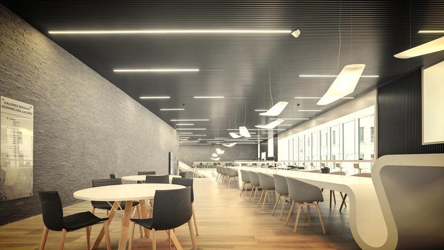 Ideale atmosfeer dankzij samenspel plafonds en verlichting