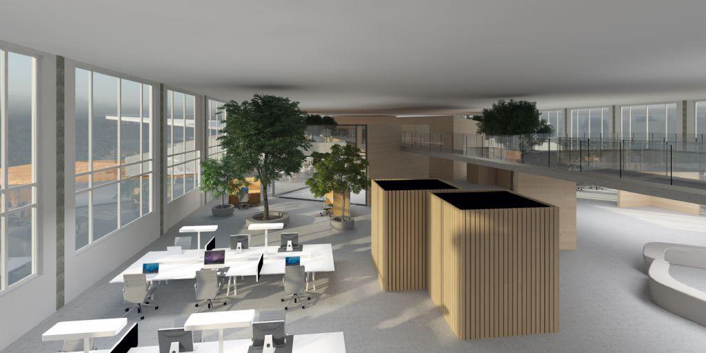 Ontwerp voor productiehallen Corda Campus