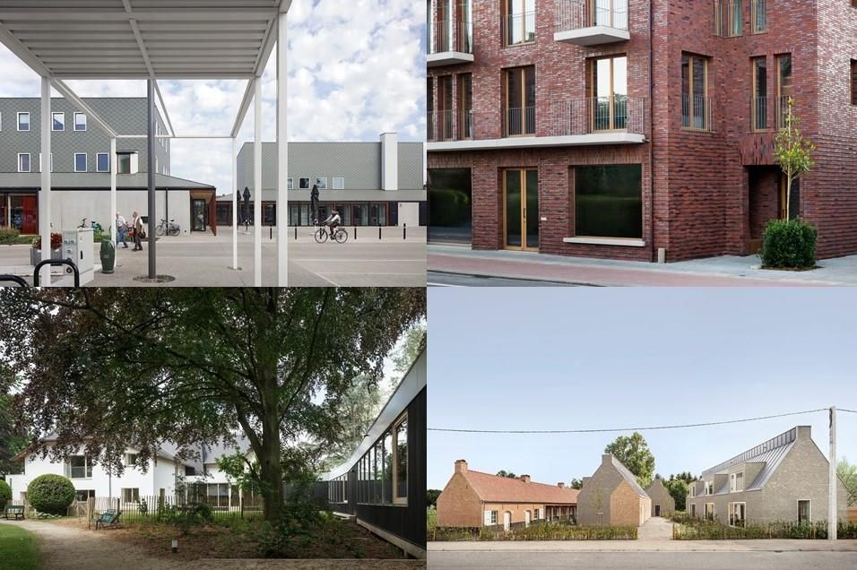 Vier voorbeelden van dorpsarchitectuur in de Kempen.