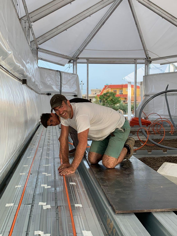 Dankzij een kliksysteem is 99 % van de vloerverwarming herbruikbaar
