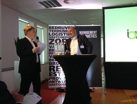 Moderator Luc Kiebooms (links) samen met Luc Feyaerts.