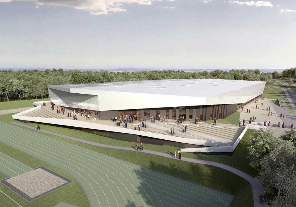 Les travaux du centre d'athlétisme de LLN dans les starting-blocks