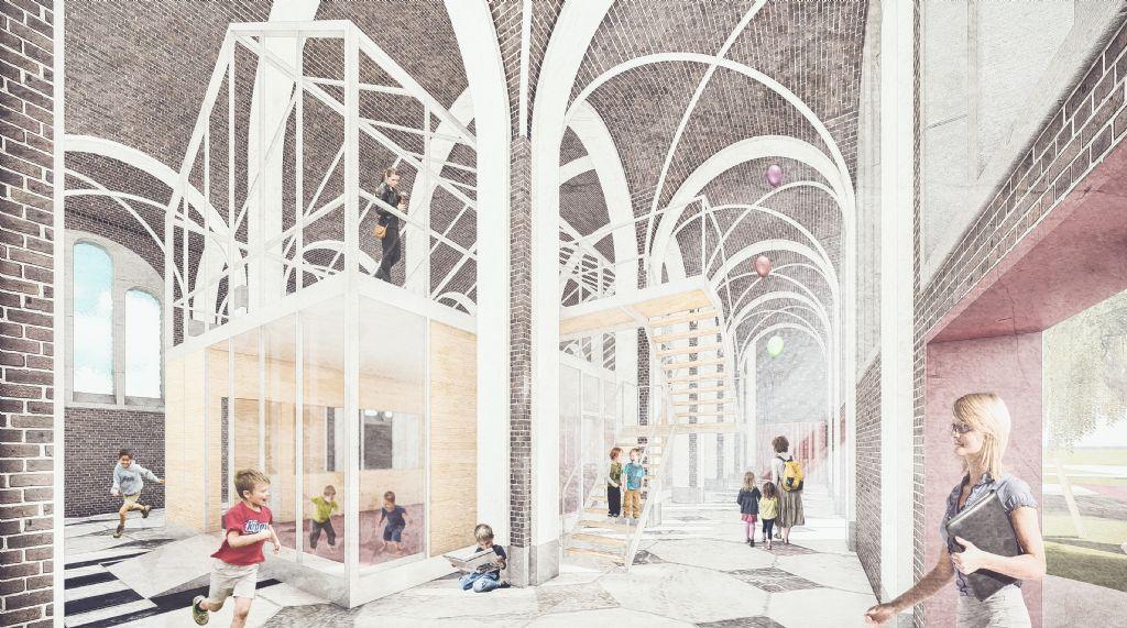 Reconversie van de Theresianenkerk te Gent als uitbreiding van de aanpalende basisschool De Boomhut