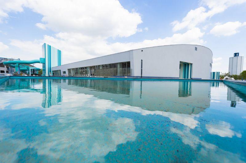 Le S&R Olympia de Bruges, une œuvre visuelle tout en bleu