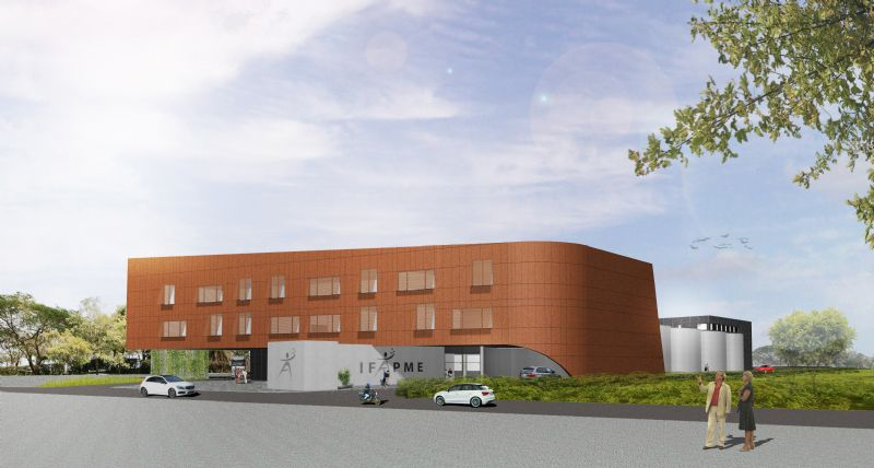 Le futur centre de formation IFAPME à Tournai (Architecte : Luc Moulin)