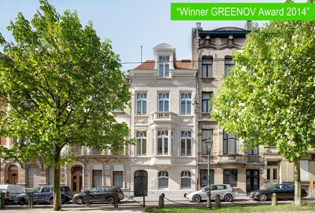 Renovatie Brussels herenhuis wint GREENOV AWARD 2014