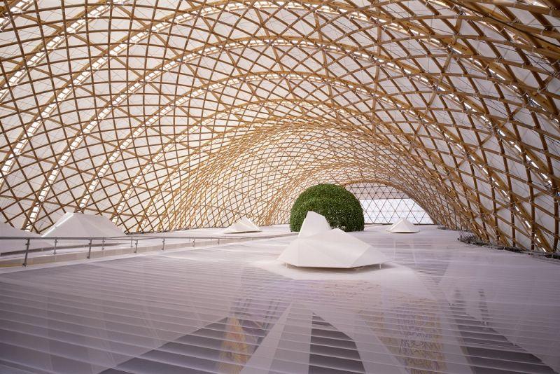 Het Japanse paviljoen op de expo in 2000 in Hannover.